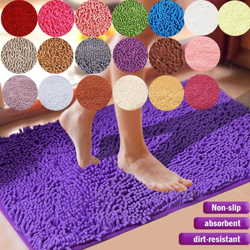 1pc gran tamaño espesar felpilla alfombra de baño, dormitorio y cocina alfombra de alfombra para sala Anti-de salida de escape absorbente Pad Mat