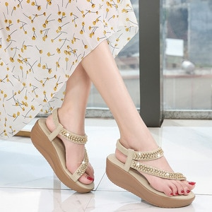 New Fashion Shoes Women Sandals Summer Wedge Sandals 2021 Women Shoes Fashion Classic Non-slip Sandals Shoes Female