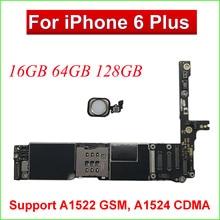 Original pour iPhone 6 Plus 5.5 'carte mère 64GB16GB, carte mère iCloud déverrouiller carte mère noir blanc or avec ID tactile