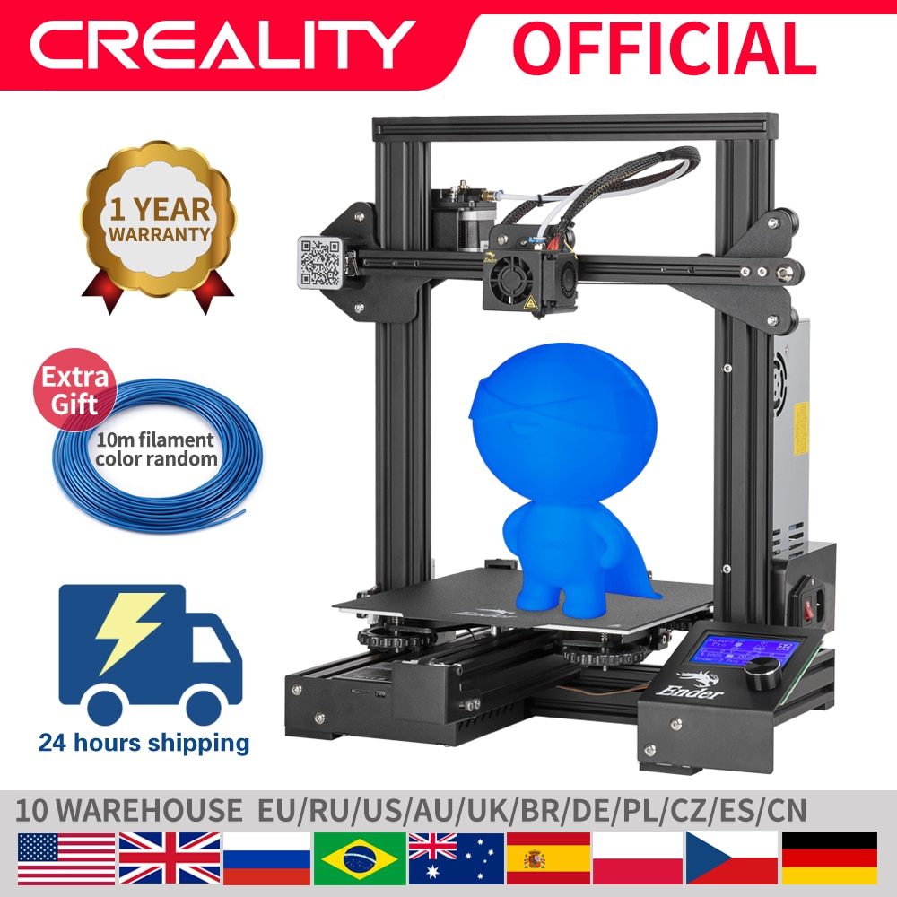 CREALITY 3D Ender-3 Pro máscaras de impresión de impresora placa de construcción magnética hoja de alimentación falla impresión DIY KIT Mean Well fuente de alimentación
