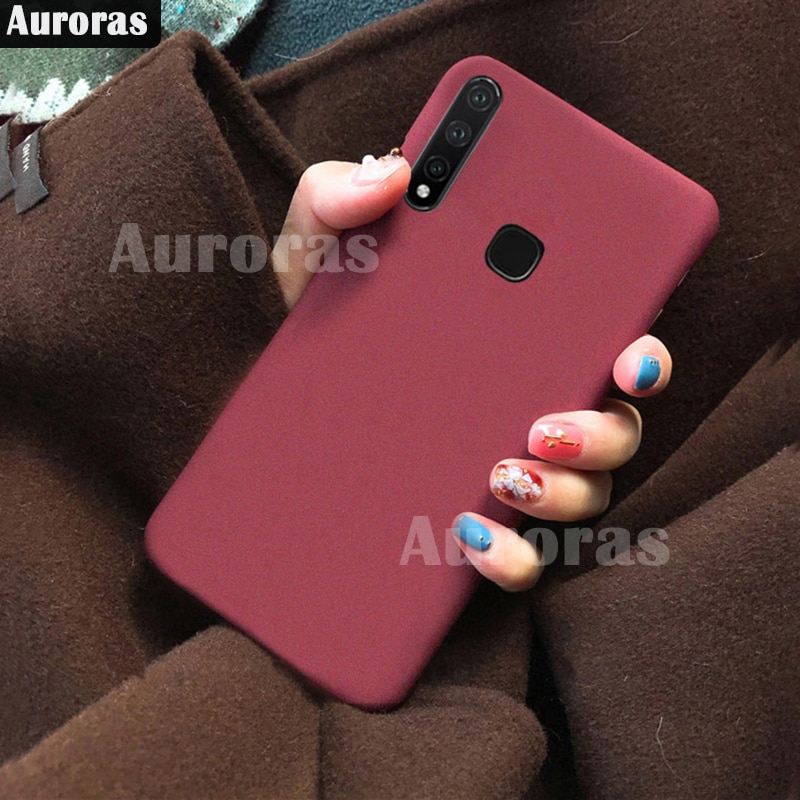 Auroras para Infinix smart 3 Plus funda sólida trasera mate cubierta protectora de silicona para Infinix smart 3plus