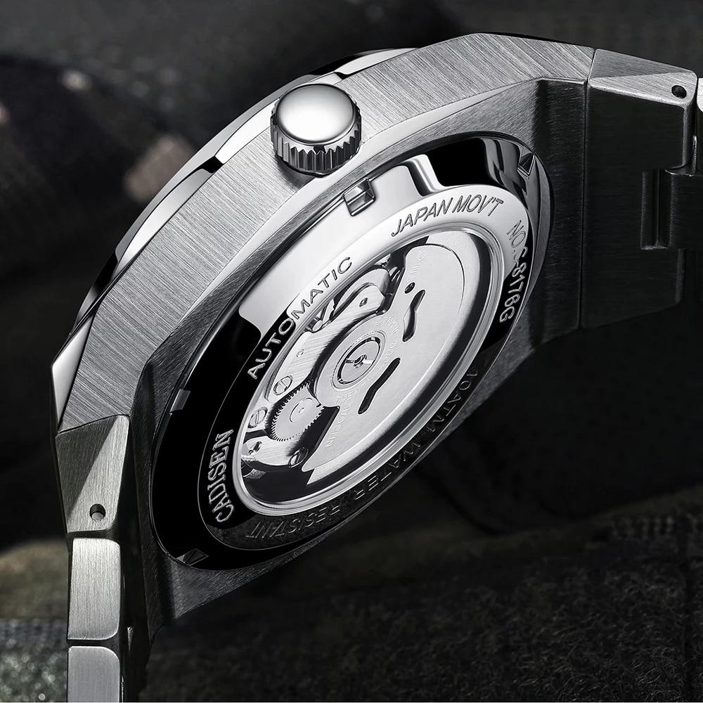 CADISEN New 42MM Men Watches Mechanical Automatic NH35A Blue Watch Men 100M Waterproof Brand Luxury Casual Business Wristwatch enlarge