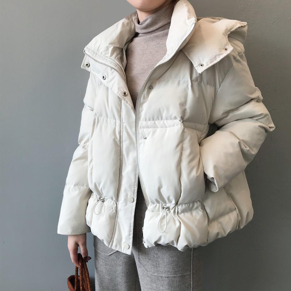 Зимние женские утепленные парки, пальто 2020, повседневные теплые стеганые куртки с капюшоном, Y5668, Женская однотонная цветная верхняя одежда,...