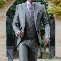 handsome two buttons groomsmen peak lapel groom tuxedos men suits weddingpromdinner best blazerjacketpantsvesttie 205