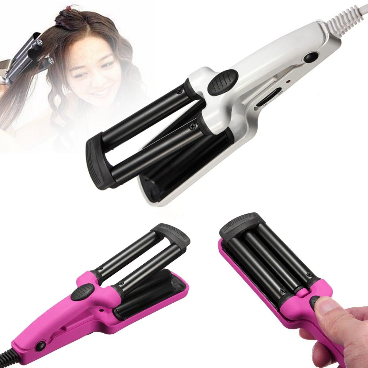 Керамические щипцы для завивки волос с 3 бочками, щипцы для завивки, щипцы для завивки волос, палочка для развевания, ролик для красоты, прибор для личной гигиены, 200 в, салонные инструменты