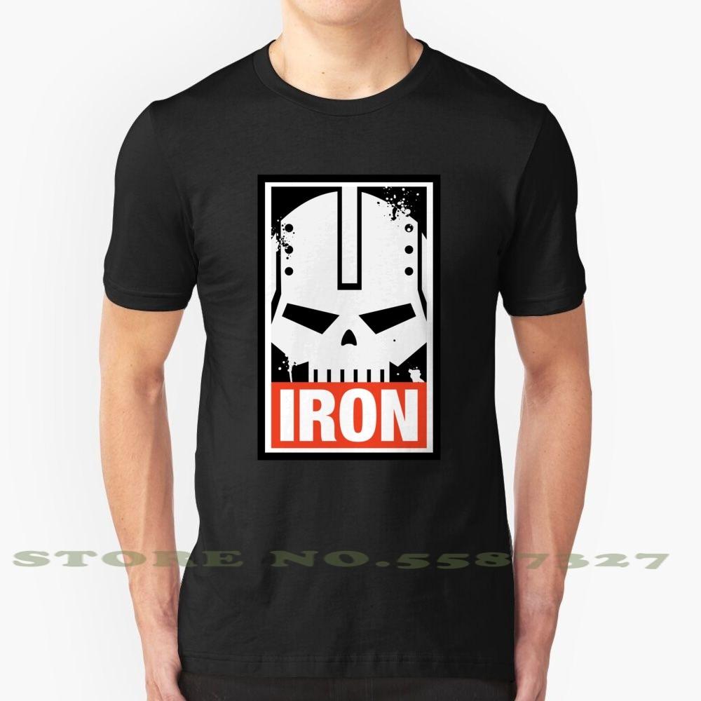 Ferro dentro de ferro sem wargaming meme preto branco tshirt para homem mulher 40000 lore astartes astartes imperador legião
