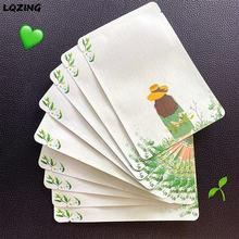 Lovely Girl opakowanie do recyklingu zielona folia termokurczliwa płaska kieszeń plastikowa torba do pakowania zagęszczone torby kopertowe 100 sztuk/partia