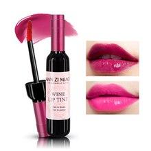 Rouge bouteille de vin brillant à lèvres liquide rouge à lèvres hydratant imperméable rouge rose lèvre teinte tache pour les femmes maquillage coréen cosmétiques