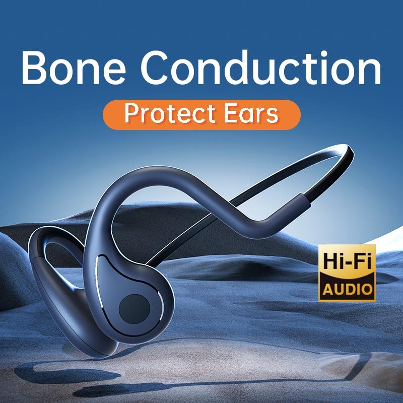 YC Bone Conduction Headphone MP3 Bluetooth wireless Earphone IP66 Headset Stereo Open Ear Handsfree
