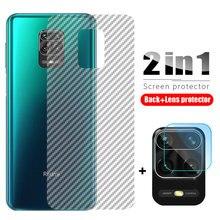 2 in 1 Camera Lens Tempered Glass For Xiaomi Redmi Note 9 9s 8 7 K20 Pro + Carbon Fiber Screen Protector For Redmi 8 8A 7 MI 9T