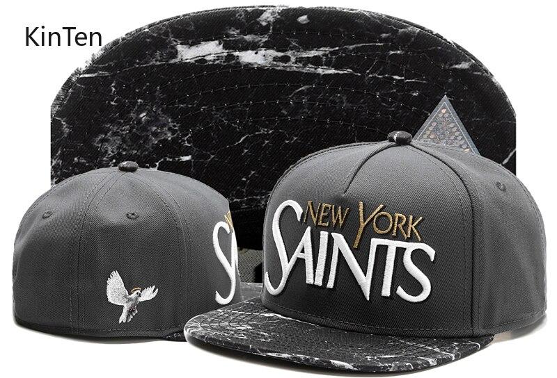 2020 nueva llegada GREY Nueva YORK Santos hip hop gorro de punk de alta calidad sombreros para las mujeres gorra de béisbol sombrero del Snapback de deporte huesos