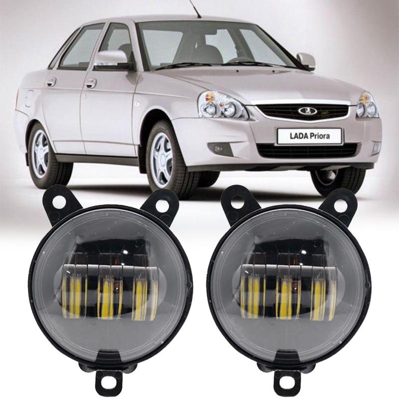 Luz antiniebla Led redonda resistente al agua 30W 3,5 K de 6000 pulgadas luces antiniebla para lada Priora y algunos faros antiniebla delanteros de coches rusos