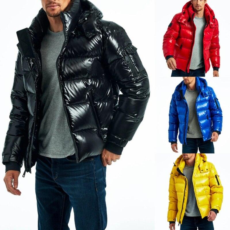 Primavera verão homens moda jaquetas leve brilhante casaco grande venda roupas dos homens sólido zíper bolso casaco com capuz casacos outwear