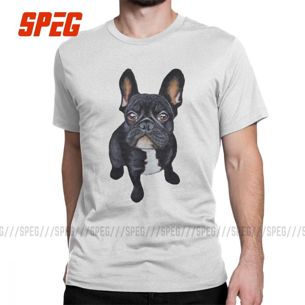 Camiseta para amantes de los perros de Bulldog Francés, camiseta Hipster, camisetas de manga corta, camisetas de algodón 100% de talla grande, Tops 4XL 5XL 6XL