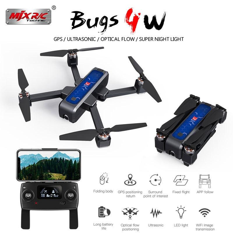 MJX bichos B4W 5G GPS sin escobillas plegable Drone WIFI FPV 2K HD Cámara Anti-shake 1,6 KM 25 minutos de flujo óptico RC Quadcopter