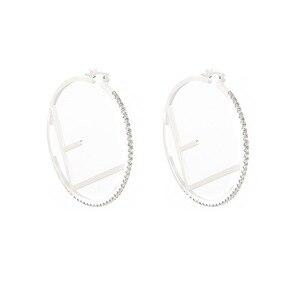 Zhang Ziyi Chinese Restaurant 3 Yang Zi Same Earrings Female Korean Fashion Jewelry Personality Cold Wind Big Ear Ring Earrings