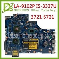 KEFU VAW11 LA-9102P REV:1.0 FOR Dell Inspiron 17 3721 5721 Laptop Motherboard CN-0C2GJ2 0C2GJ2 I5-3337U CPU Mainboard original