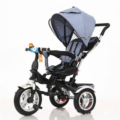 Детская коляска 3 в 1, портативный детский трехколесный велосипед, детский трехколесный велосипед, велосипед, сидение, плоская лежа, тележка,...