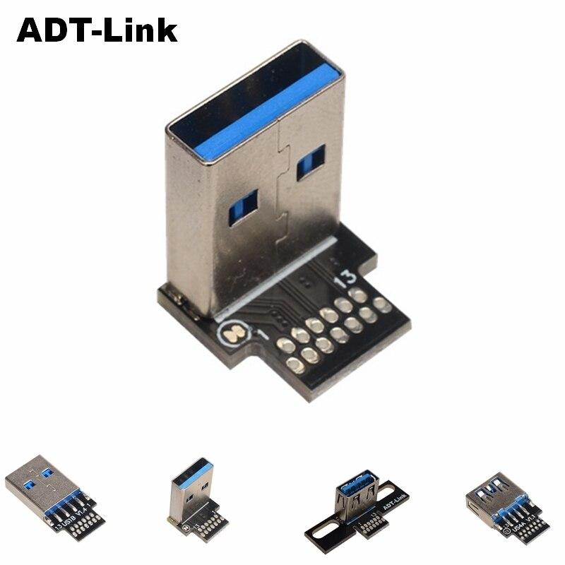 Adaptador de convertidor de USB A macho, conector macho A USB 2,0...