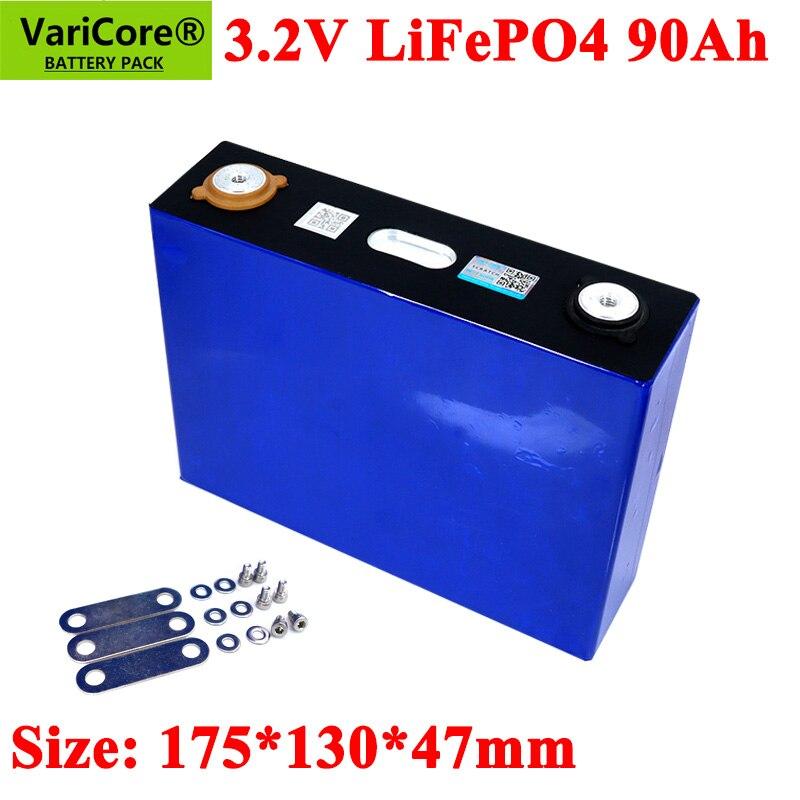 VariCore-بطارية LiFePO4 3.2V ، 90ah ، سعة كبيرة 90000 مللي أمبير ، للدراجات النارية ، السيارة الكهربائية