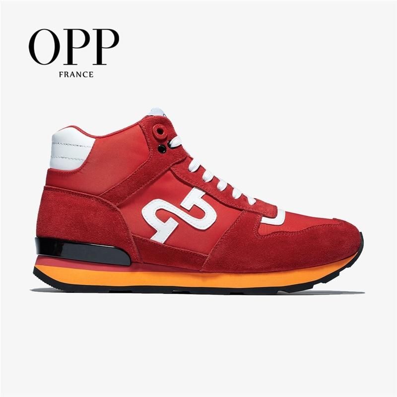OPP أحذية رجالي عالية الجودة أحذية جلدية رياضية الشارع أحذية رجالية السببية البريطانية موضة ارتداء الدانتيل متابعة أحذية رياضية