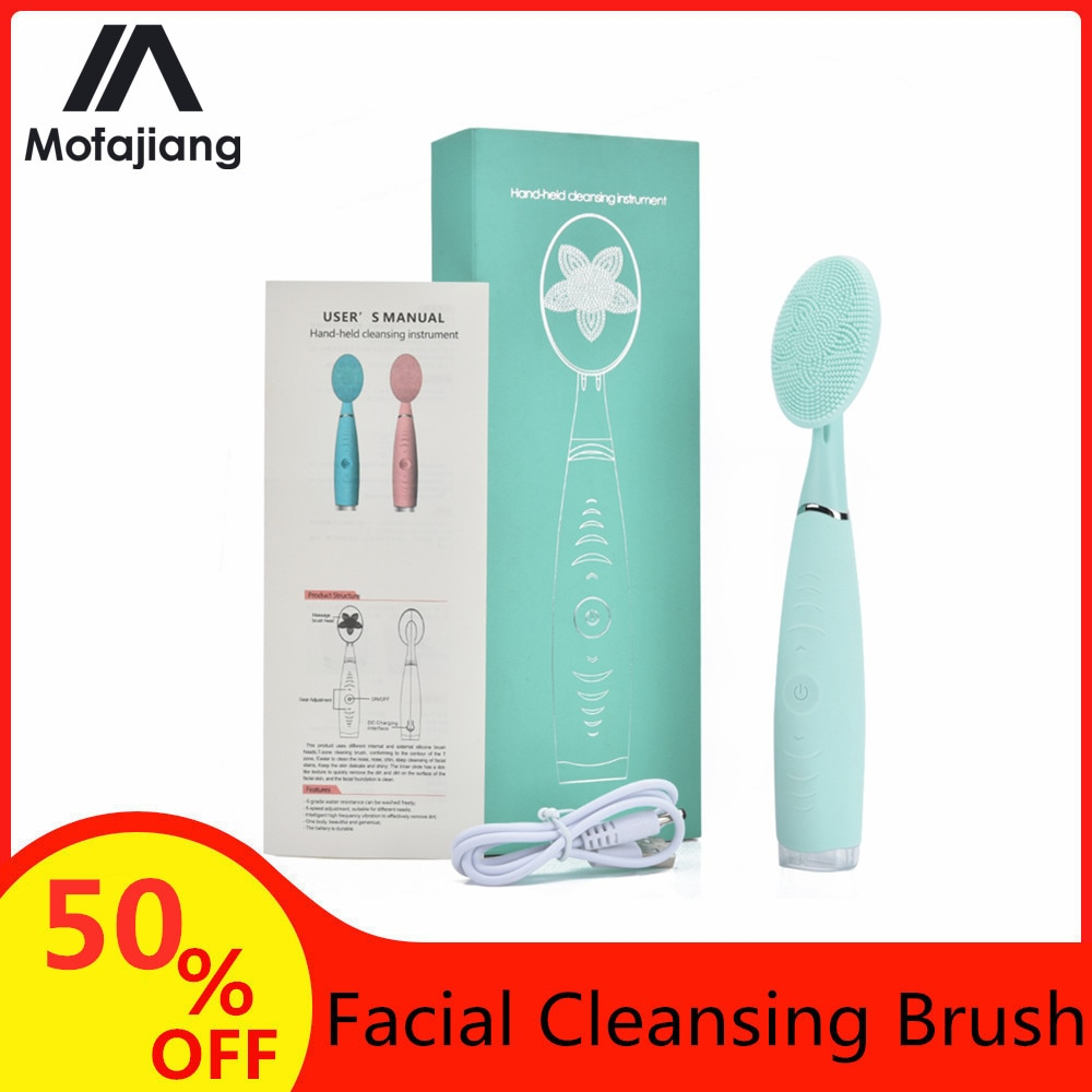 Facial Cleansing Brush Waterproof Silicone Cleansing Tool Portable Electric Handheld Facial Cleaning Brush Mini Pore Cleaner aesop primrose facial cleansing masque