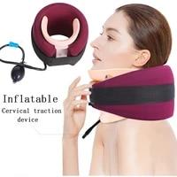 inflatable neck brace cervical spine traction stretch massage neck collar neck support u shape posture correction brace soft