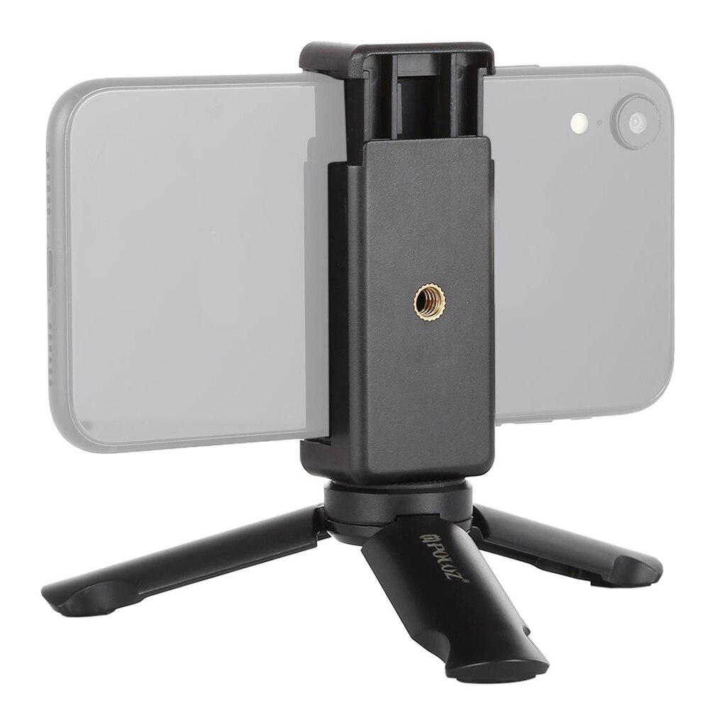 PULUZ-Mini Abrazadera para teléfono inteligente, plegable, estable, trípode, trípode