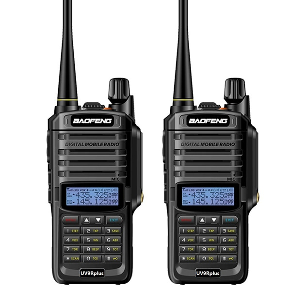 1pcs / 2pc long range  baofeng uv-9r plus waterproof walkie talkie with amateur cb radio car ham radio Station vhf uhf handy