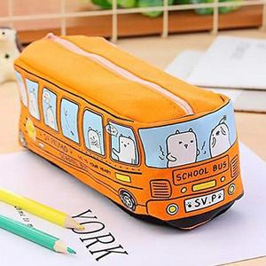 Large Capacity canvas Bus pencil case school supplies stationery pencil bag for boys and girls storage bag holder