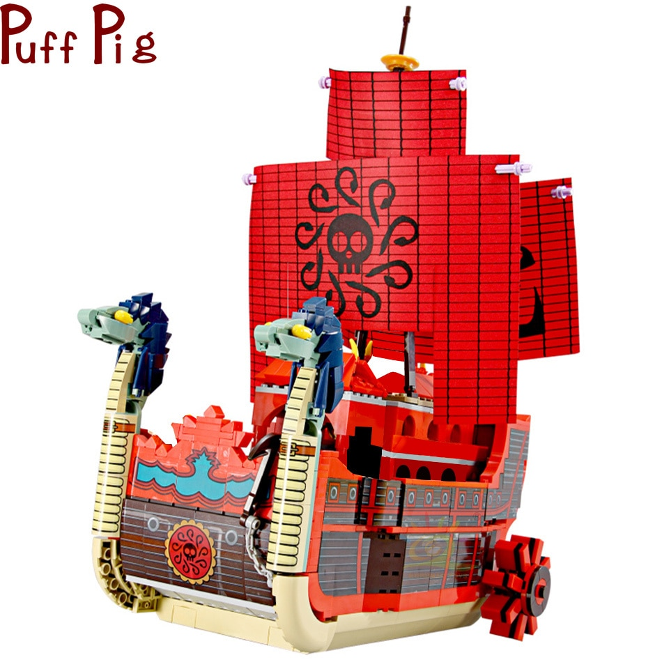 1099 Uds Corsair Hydro bloques de construcción aventura barco Dragón de la forma de la cabeza de la nave ladrillos para los niños de la ciudad de rescate de la Guardia Costera