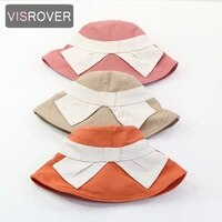 visrover 5 colorway summer women sun hat foldable beach colorful hat visor uv protection holiday butterfly sun bonnet hats gift