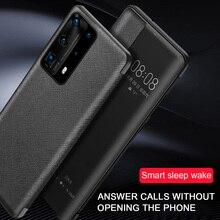 Couvercle rabattable pour Huawei P40 Pro étui Smart Touch View étui à rabat en cuir pour Huawei P 40 P30 Pro Mate 30 Pro coque de protection