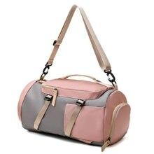 Fashion One-Shoulder Double-Back Business Trip Sports Nylon Bag Large Capacity Shoe Fitness Luggage