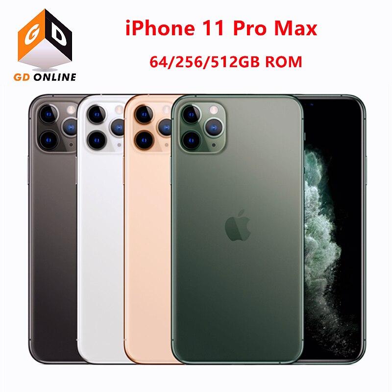 Перейти на Алиэкспресс и купить Оригинальный разблокированный сотовый телефон Apple iPhone 11 Pro Max, 6,5 дюйма, ОЗУ 4 Гб ПЗУ 64/256/512 ГБ A13 Bionic Hexa Core IOS 4G LTE