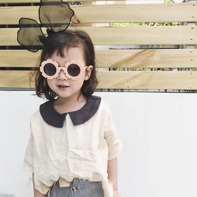 Zilead New Sun Flower Round Cute Kids Sunglasses UV400 For Boy Girls Lovely baby Sun Glasses Fashion
