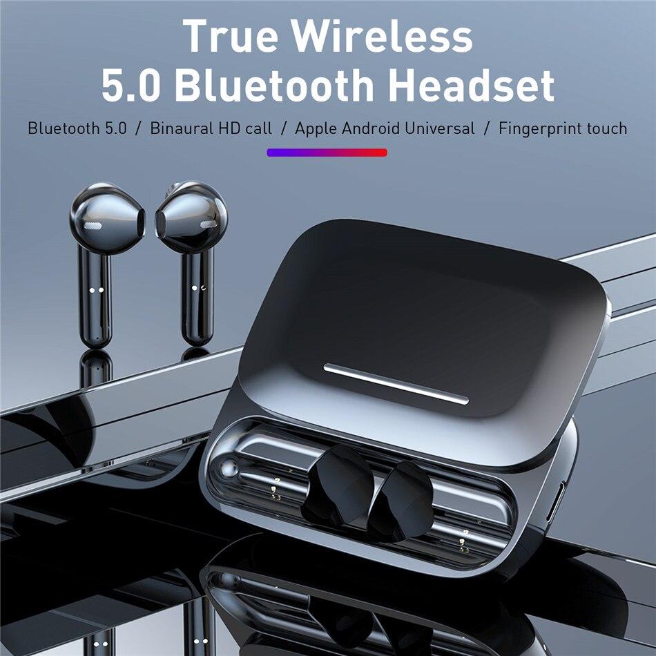 Auriculares Bluetooth Estéreo TWS BE36, Emparejamiento automático, auriculares inalámbricos IPX5 a prueba de agua, caja de carga deslizante para iphone Android