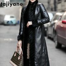 Autumn Winter Coat Women Clothes 2020 Mink Fur Collar Real Genuine Leather Jacket Korean Vintage Sheepskin Down Coat Women Tops
