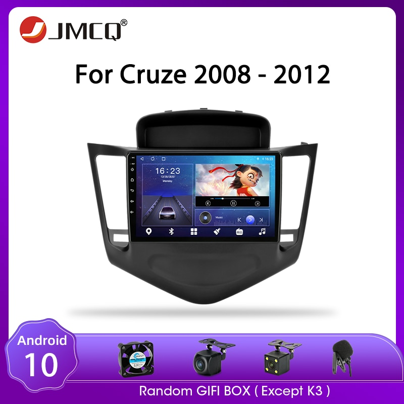 JMCQ For Chevrolet Cruze 2009-2014 Android 9 Car Radio 2din Split Screen GPS Navigaion 2+32G Multimedia Video Player with CANBUS недорого