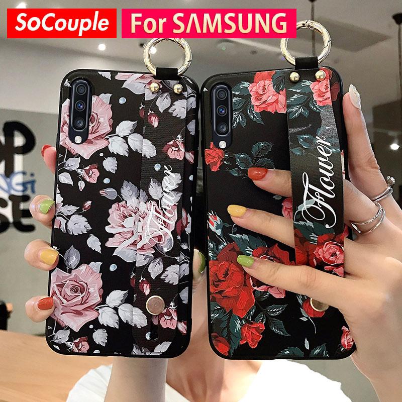 SoCouple muñeca banda caso para Samsung Galaxy S9 S8 S10 S20 más A10 A20 A30 A50 s A70 A51 71 Nota 8 9 10plus teléfono caso