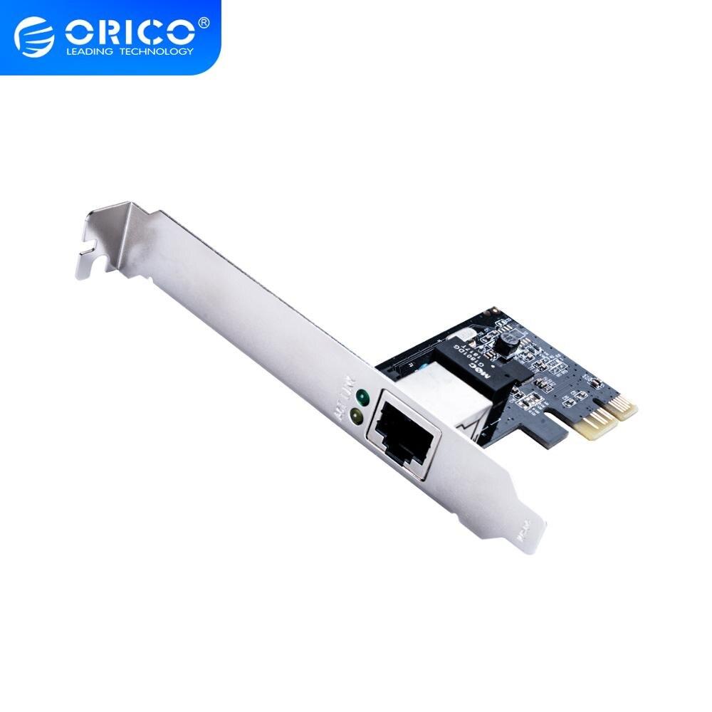 Orico pci express pci-e placa de rede 1000 mbps gigabit ethernet 10 m 100 m 1000 m rj45 adaptador conversor controlador de rede 1 pcs