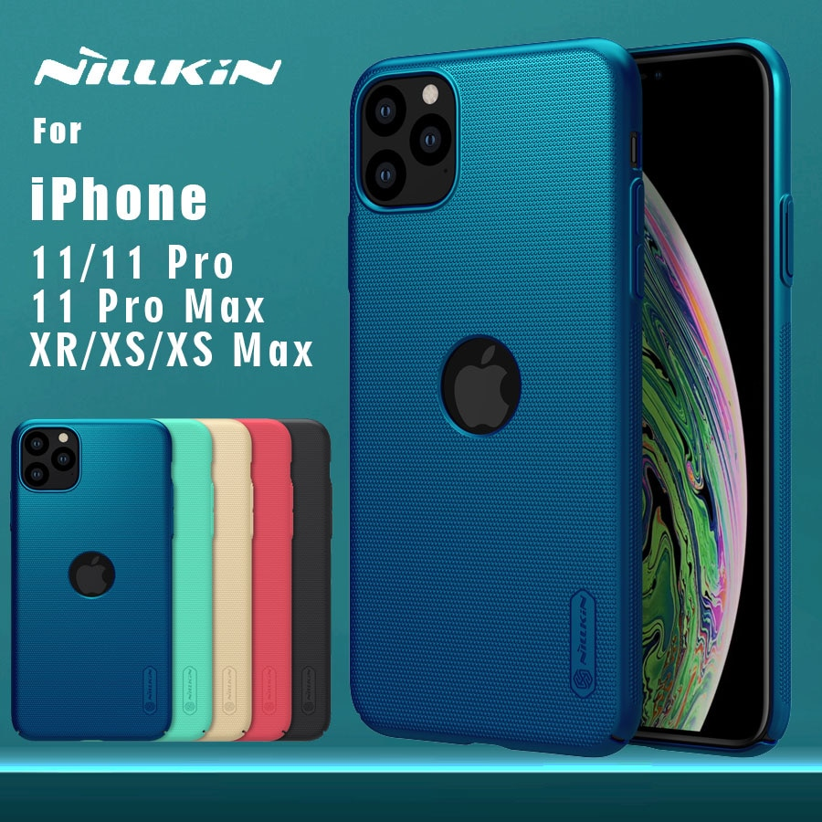 Para o iphone 11 11 pro 11 pro max x xr xs max 7 6 s mais 5 5S se caso nillkin fosco escudo caso do telefone capa dura de volta do computador