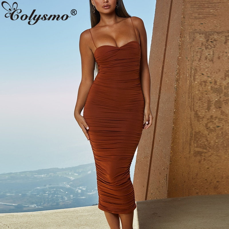 Colysmo vestido longo feminino, vestido de camada dupla midi elegante moderno festa à noite para mulheres verão 2019