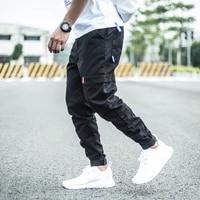 newly streetwear fashion men jeans slim fit big pocket casual cargo pants men overalls vintage designer hip hop joggers trousers