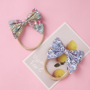 Fashion Bows Baby Hair Ties  Elastic Nylon Hairbands For Kids Baby Hair Accessories Fresh Style Cute Headdress Gifts For Girls