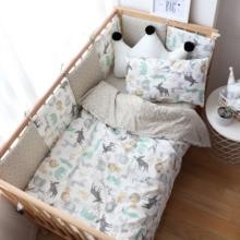 Baby Bedding Set Nordic Cotton Woven Baby Bed Linen For Newborns Kid Crib Bedding For Boy Girl Nersury Offer Custom Make Service