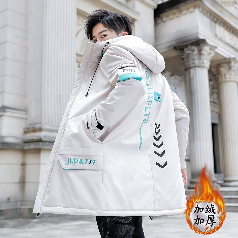 Зимняя мужская куртка, качественное теплое плотное пальто, Зимняя Красная черная парка, Мужская теплая верхняя одежда, модная мужская пухов...