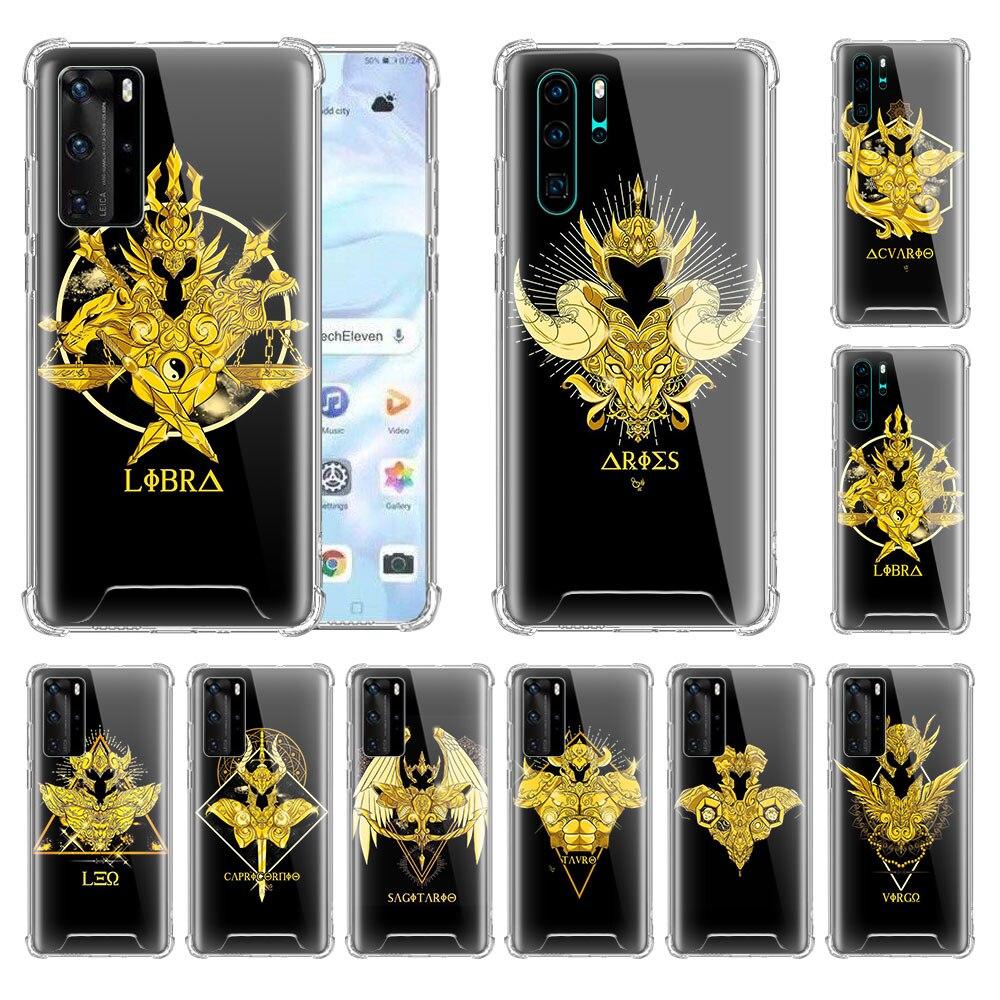 Чехол с логотипом Saint Seiya для Huawei P20 P10 Lite P30 Pro P Smart Z Plus, 2019, подушка безопасности, мягкий чехол для телефона