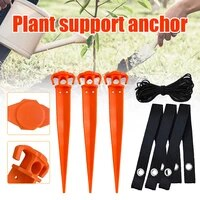 1set plastic tree nail with perforated braided belt woven rope fixed plant support anchor kit for outdoor courtyard garden