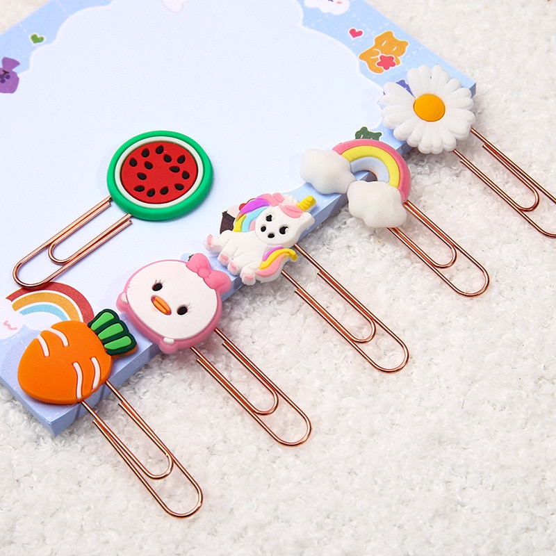 Cute Paper Clips Funny Paperclips Bookmarks Planner Clips for Fun Office Supplies School Gifts
